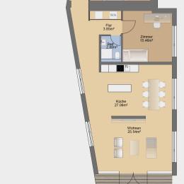 3-Zimmer-Apartment mit Terrasse