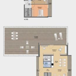 Dachgeschoss-Maisonette-Apartment mit Blick zum Fröbelplatz