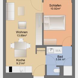 Single-Apartment mit Blick zum Fröbelplatz