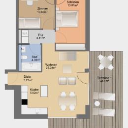 3-Zimmer-Apartment mit Blick zum Fröbelplatz
